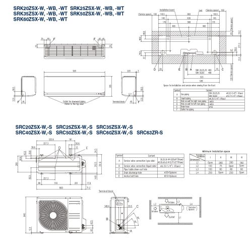 small resolution of mitsubishi heavy industries air conditioning srk20zsx r32 wall mount heat pump install pack